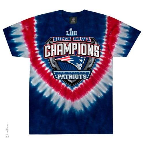 New England Patriots Super Bowl 53 LI Limited Edition Tie Dye T-Shirt
