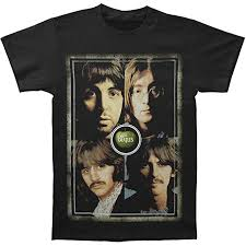 Beatles Faces Black T-Shirt